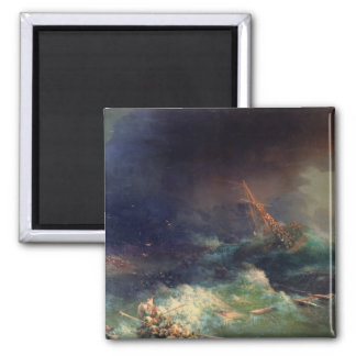 The Disaster of the Liner Ingermanland 2 Inch Square Magnet