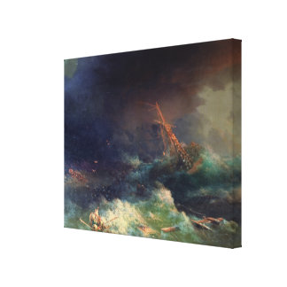 The Disaster of the Liner Ingermanland Canvas Print