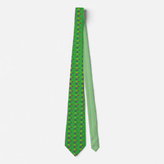 The disc golf all over basket & disc pattern neck tie