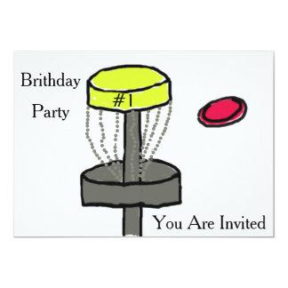 The disc golf birthday invitation