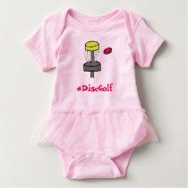 The #DiscGolf baby girl onsie Baby Bodysuit