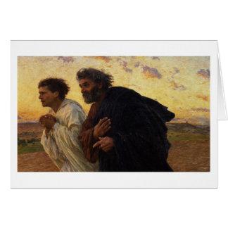 The Disciples Peter and John Running Card