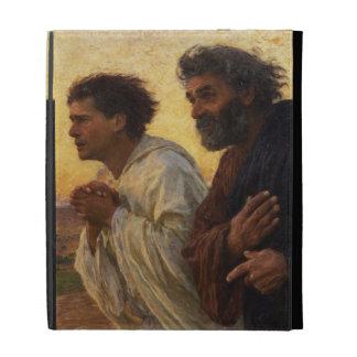 The Disciples Peter and John Running iPad Folio Case