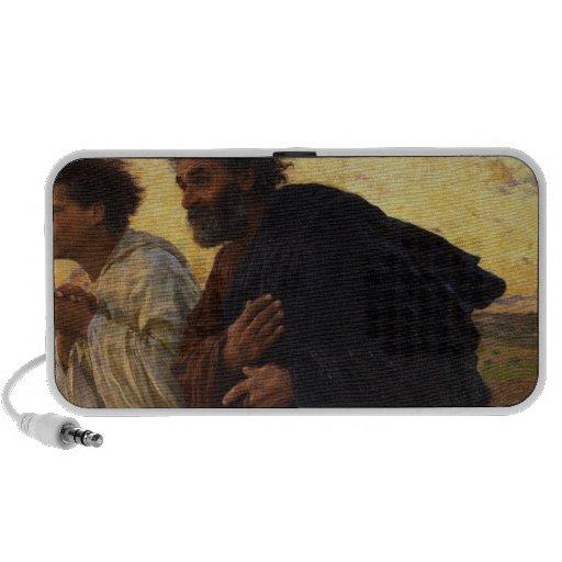 The Disciples Peter and John Running iPod Speaker