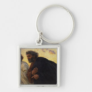 The Disciples Peter and John Running Keychain