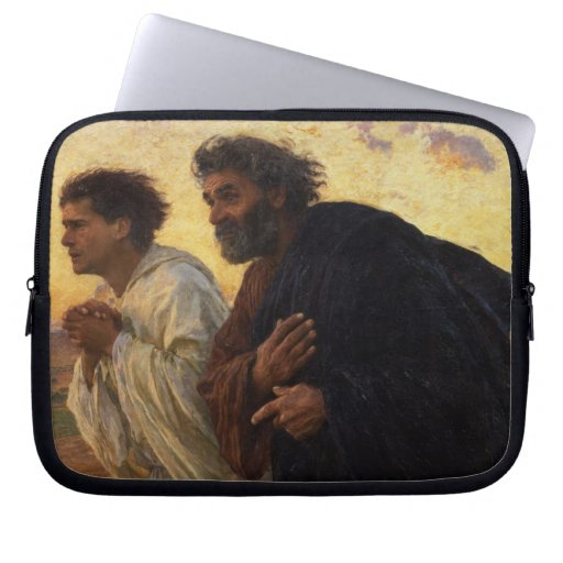 The Disciples Peter and John Running Computer Sleeves