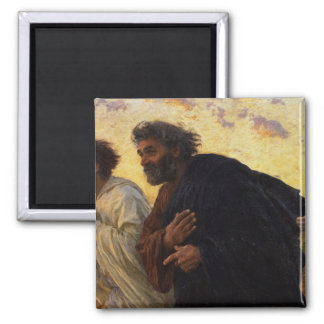 The Disciples Peter and John Running Fridge Magnet