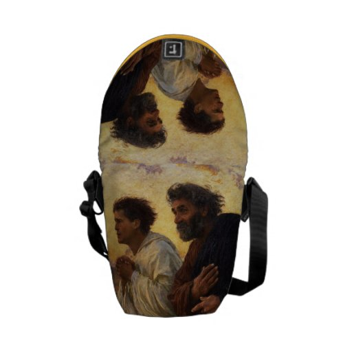 The Disciples Peter and John Running Messenger Bag