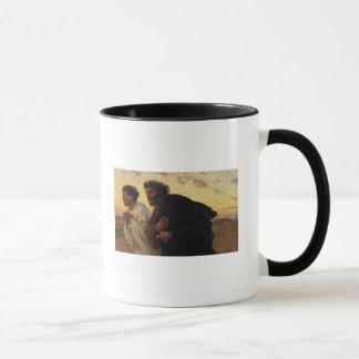 The Disciples Peter and John Running Mug