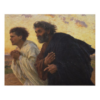 The Disciples Peter and John Running Panel Wall Art
