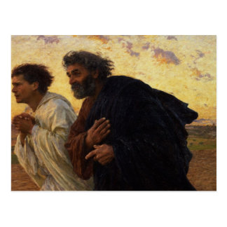 The Disciples Peter and John Running Post Card