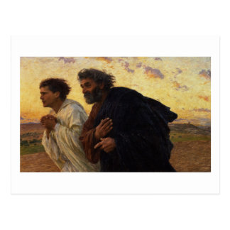 The Disciples Peter and John Running Postcard