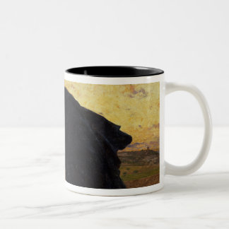 The Disciples Peter and John Running Two-Tone Coffee Mug