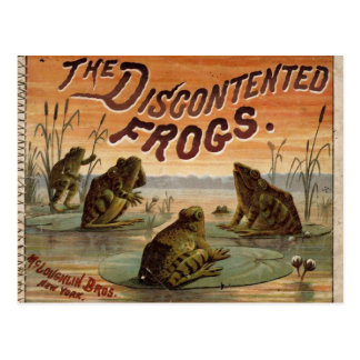 The discontented frogs 1895 postcard