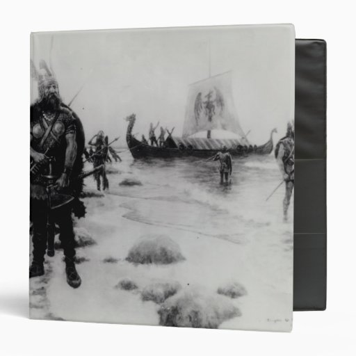 The Discovery of America by Leif Eriksson 3 Ring Binders