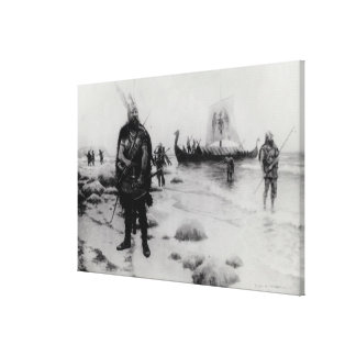 The Discovery of America by Leif Eriksson Gallery Wrapped Canvas