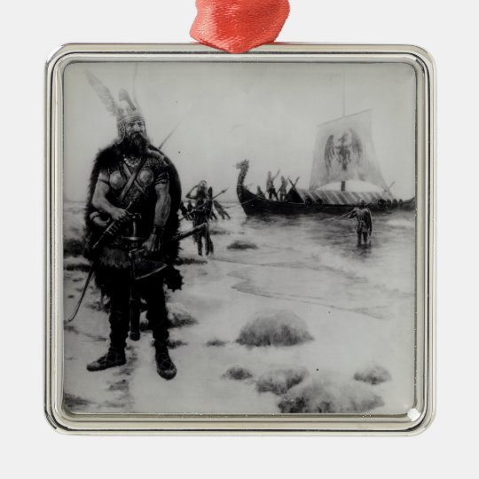 The Discovery of America by Leif Eriksson Metal Ornament