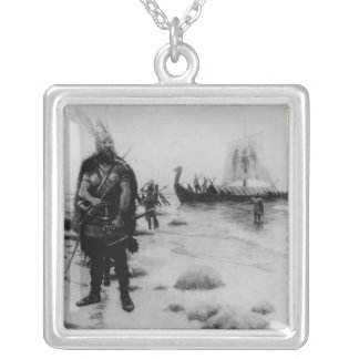 The Discovery of America by Leif Eriksson Silver Plated Necklace