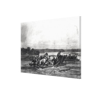 The Discovery of the Mississippi by de Soto Stretched Canvas Prints