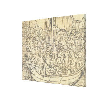 The Discovery of the New World by Chrisopher Colum Stretched Canvas Print