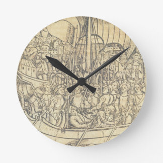 The Discovery of the New World by Chrisopher Colum Round Clock