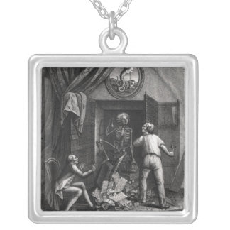 The Discovery of the Royal Correspondence Square Pendant Necklace