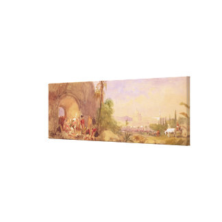 The discovery of Tipu's body at the Water Gate at Canvas Prints