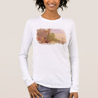 The discovery of Tipu's body at the Water Gate at Long Sleeve T-Shirt