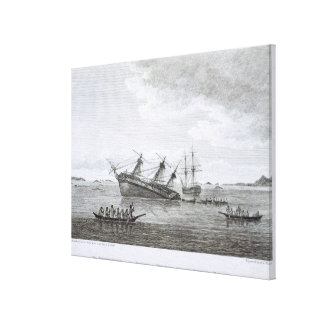 The Discovery on the Rocks in Queen Charlotte's So Canvas Prints