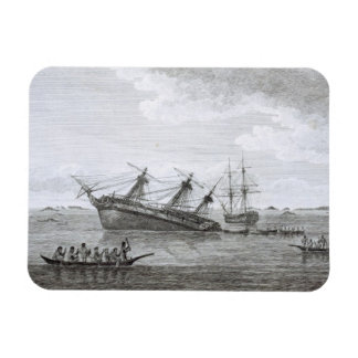 The Discovery on the Rocks in Queen Charlotte's So Rectangular Photo Magnet