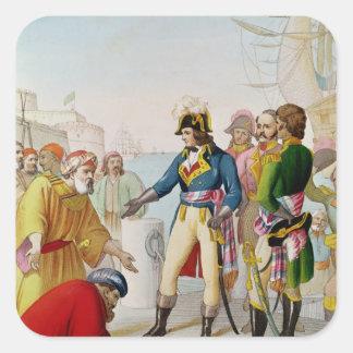 The Disembarkation of Napoleon  at Alexandria Square Sticker