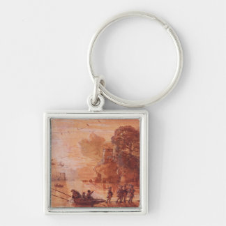 The Disembarkation of Warriors in a Port Keychain