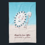"The Dish Ran Away with the Spoon Beach Newlyweds Kitchen Towel<br><div class=""desc""></div>"