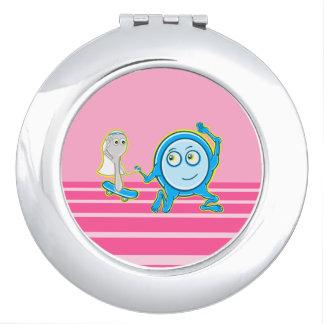 The Dish Ran Away With The Spoon Funny Cartoon Makeup Mirror