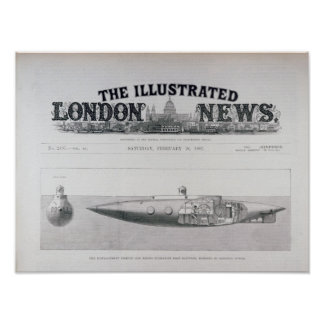 The Displacement Sinking and Rising Submarine Posters