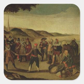 The Dispute over the Golden Baton Square Sticker