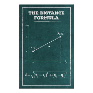 The Distance Formula Poster