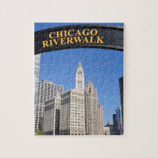 The distinctive design and clocktower of the jigsaw puzzle