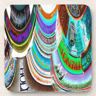 The Distortion of Literature Beverage Coaster