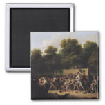 The Distribution of Food and Wine 2 Inch Square Magnet