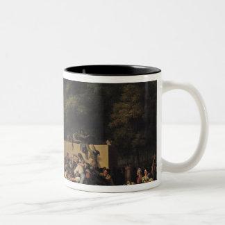 The Distribution of Food and Wine Two-Tone Coffee Mug