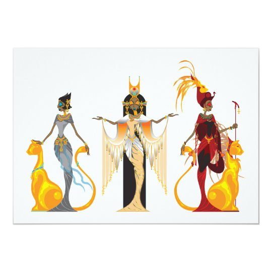 The Divas of Egypt Invitations