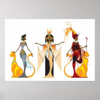 The Divas of Egypt Print