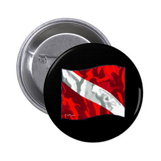 The Dive Flag Collection 2 Inch Round Button