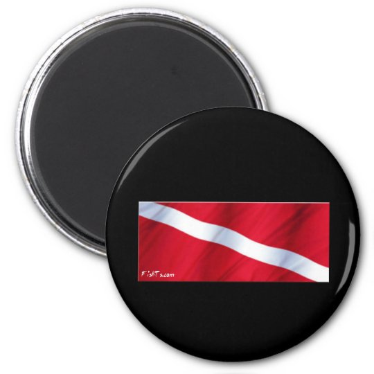 The Dive Flag Collection 2 Inch Round Magnet