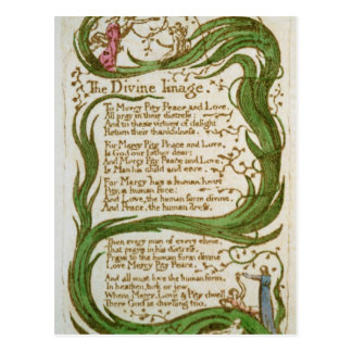 The Divine Image, from Songs of Innocence, 1789 Postcard
