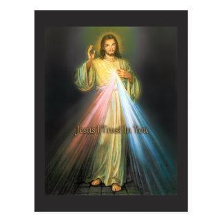 THE DIVINE MERCY BY EKLEKTIX DEVOTIONAL IMAGE. POSTCARD