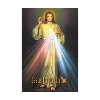 THE DIVINE MERCY DEVOTIONAL IMAGE CANVAS PRINT
