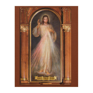 THE DIVINE MERCY DEVOTIONAL IMAGE (ORIGINAL) WOOD WALL DECOR