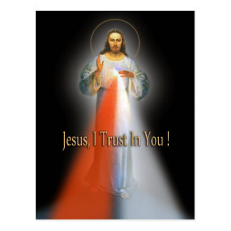 THE DIVINE MERCY IMAGE POSTCARD